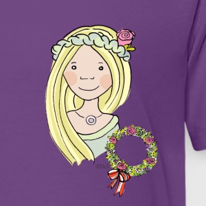 Mittelalter, Blumenmädchen, blond, Rose T-Shirts - Teenager Premium T-Shirt