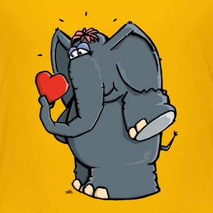 The elephant is in love Shirts - Kids' Premium T-Shirt