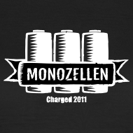 Motiv ~ Monozellen Girlieshirt, Schwarz