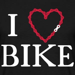 I Heart Love bike chain  T-Shirts - Men's T-Shirt