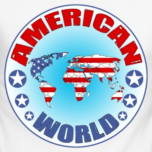 american world Tee shirts manches longues - T-shirt baseball manches longues Homme