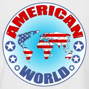 american world T-Shirts - Men's Baseball T-Shirt