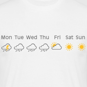 nice weekend weather T-shirts - T-shirt herr
