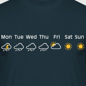 nice weekend weather T-shirts - Mannen T-shirt