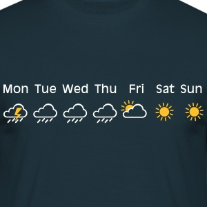 nice weekend weather Camisetas - Camiseta hombre