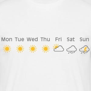 bad weekend weather T-shirts - Herre-T-shirt