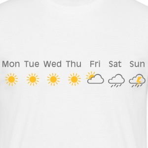 bad weekend weather T-shirts - Mannen T-shirt