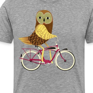 Owl on a Bike T-Shirts - Men's Premium T-Shirt
