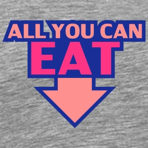 All You Can Eat T-shirts - Herre premium T-shirt