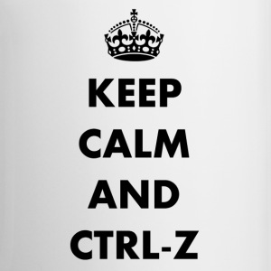Keep calm and ctrl-z - Taza