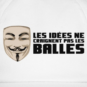 Anonymous Ideas are bullet proof - Gorra béisbol