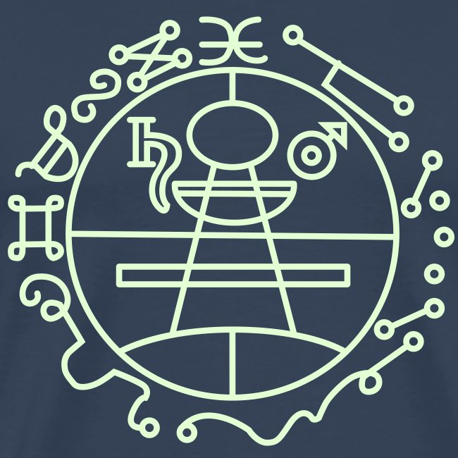 Key of Solomon Glow-in-Dark Men Premium S-5XL | Men's Premium T-Shirt