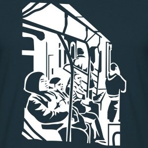 Navy subway T-Shirts - Men's T-Shirt