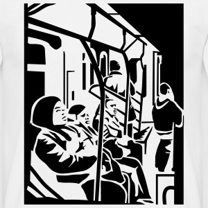 White Subway T-Shirts - Men's T-Shirt