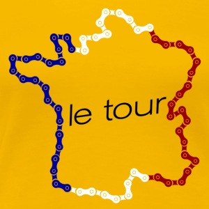 France in chain links  T-Shirts - Women's Premium T-Shirt