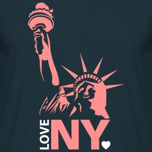 I love New York NY - Männer T-Shirt