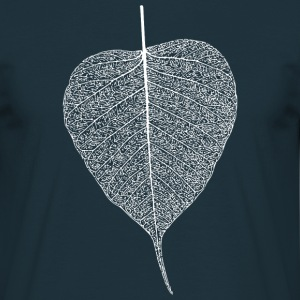 leaf tree forest skeleton pattern nerve love heart T-Shirts - Men's T-Shirt