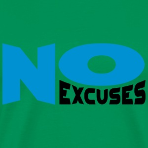 No Excuses T-shirts - Herre premium T-shirt