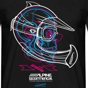 Skully - Alpine Commencal - BLACK - Männer T-Shirt