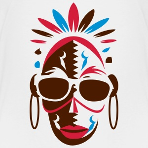 African mask with sunglasses Shirts - Kids' Premium T-Shirt