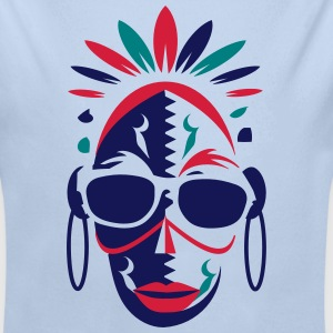 African mask with sunglasses Hoodies - Longlseeve Baby Bodysuit