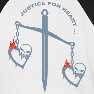 justice heart fire Tee shirts - T-shirt baseball manches courtes Homme