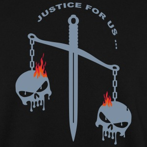 justice skull fire Sweat-shirts - Sweat-shirt Homme