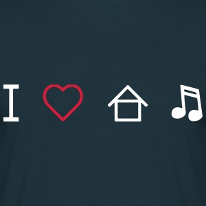 I Love House Music T-Shirts - Männer T-Shirt