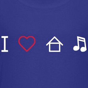 I Love House Music T-Shirts - Teenager Premium T-Shirt