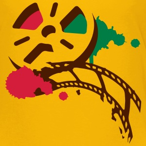 An old film reel with a film as a graffiti Shirts - Kids' Premium T-Shirt