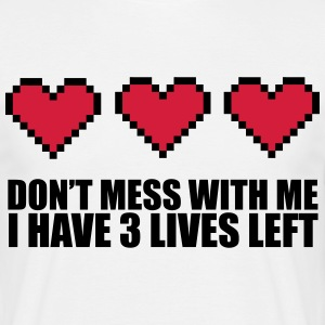 3 Lives Left T-shirts - Herre-T-shirt