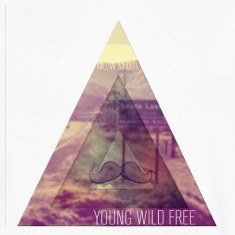 MOUSTACHE + TRIANGLE + YOUNG WILD FREE + HIPSTER T-shirts