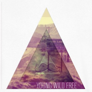 MOUSTACHE + TRIANGLE + YOUNG WILD FREE + HIPSTER T-shirts - T-shirt med v-ringning herr