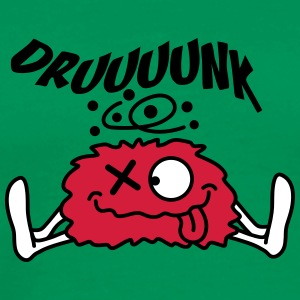 Funny Drunken Monster Design T-Shirts - Men's Premium T-Shirt