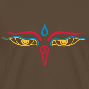 Buddha Eyes 3c T-Shirts - Men's Premium T-Shirt