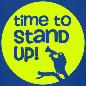 Frühe Vogel - Time to stand up 1c - Kinder T-Shirt