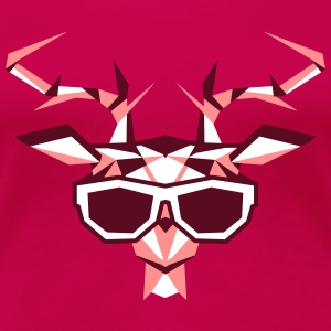 a multi-faceted deer head with sunglasses T-Shirts - Women's Premium T-Shirt