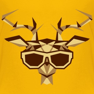 a multi-faceted deer head with sunglasses Shirts - Kids' Premium T-Shirt