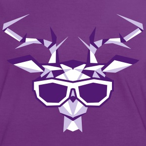 a multi-faceted deer head with sunglasses T-Shirts - Women's Ringer T-Shirt