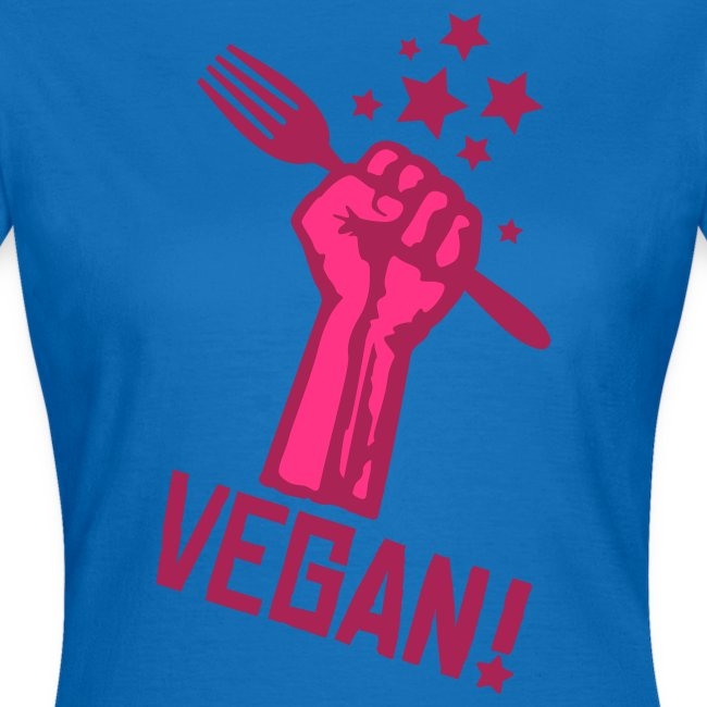 Womens Shirt 'rising fist VEGAN!' PB