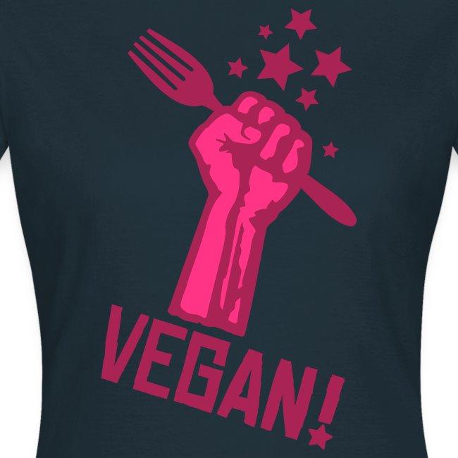 Womens Shirt 'rising fist VEGAN!' PB