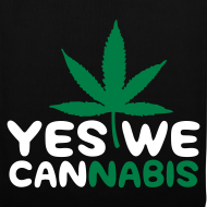 Diseño ~ Yes We cannabis(blanco y verde)