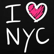 Diseño ~ I love NYC(rosa y blanco)