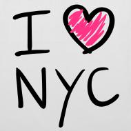 Diseño ~ I love NYC (negro y rosa)