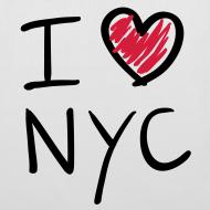 Diseño ~ I love NYC(negro y rojo)