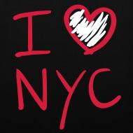 Diseño ~ I love NYC (rojo y blanco)