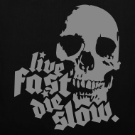 Diseño ~ Live Fast Die Slow (plateado)