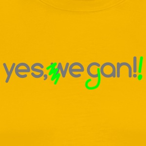 Barack Obama Slogan - abgewandelt Yes, we can veg - Männer Premium T-Shirt