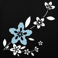 Diseño ~ Bolsa Flores blancas y azules