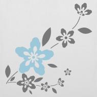 Diseño ~ Bolsa con flores grises y azules